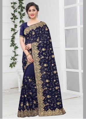 Navy Blue Bollywood Saree