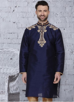 Navy Blue Ceremonial Kurta