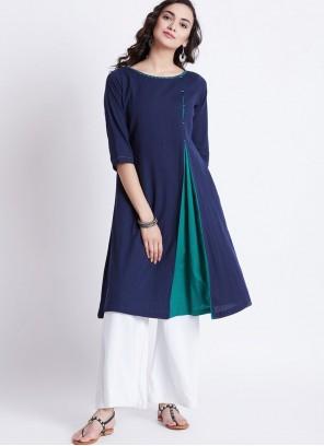 Navy Blue Color Designer Kurti