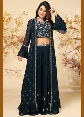 Navy Blue Color Readymade Suit