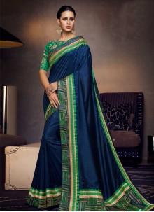Navy Blue Party Art Silk Traditional Designer Saree