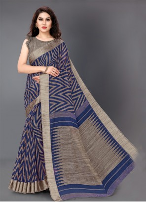 Navy Blue Party Classic Saree