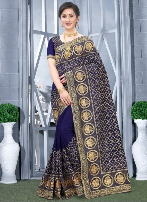 Navy Blue Party Traditional Designer Saree