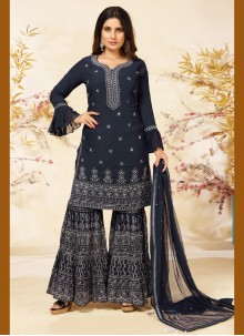 Navy Blue Readymade Suit