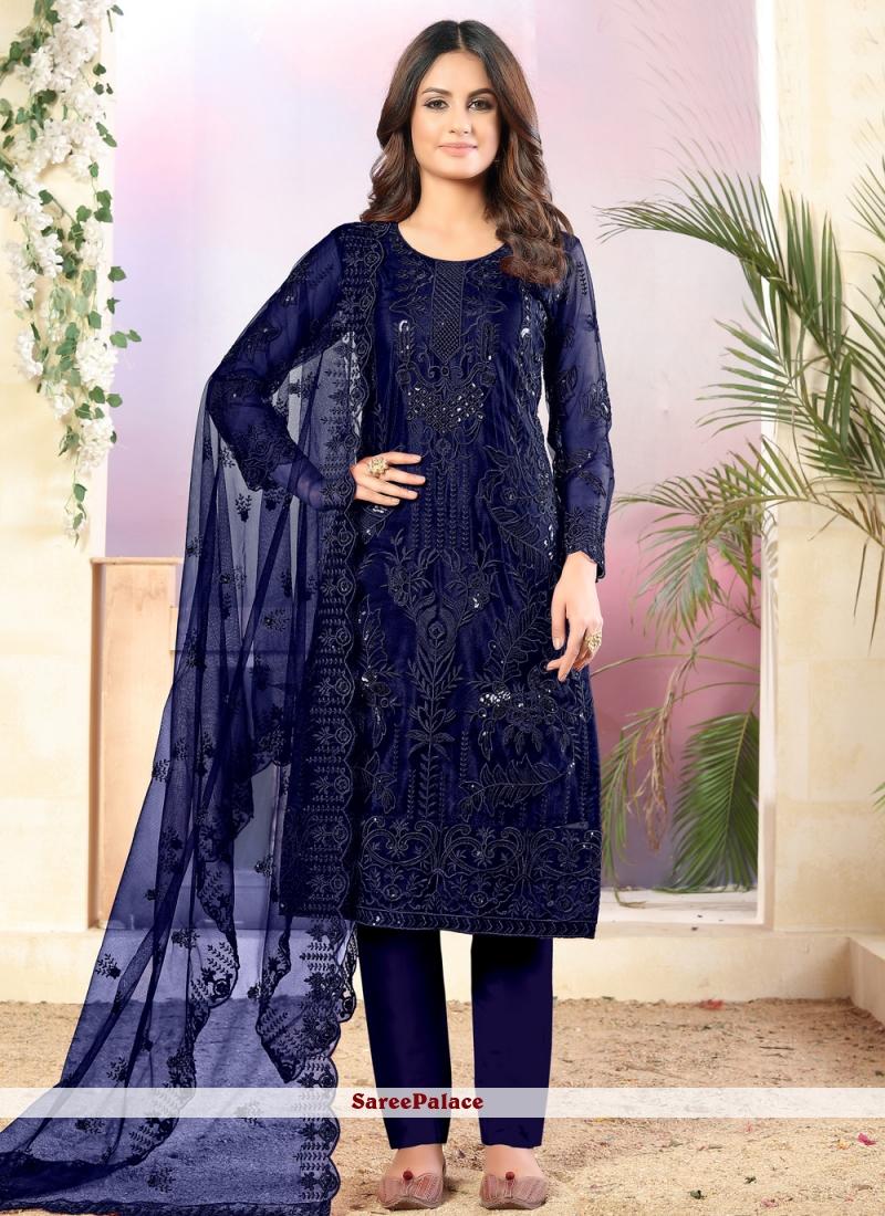 Navy Blue Salwar Suit
