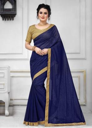 Navy Blue Trendy Saree