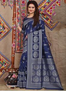 Navy Blue Wedding Designer Traditional Saree