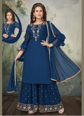 Navy Blue Wedding Trendy Salwar Suit