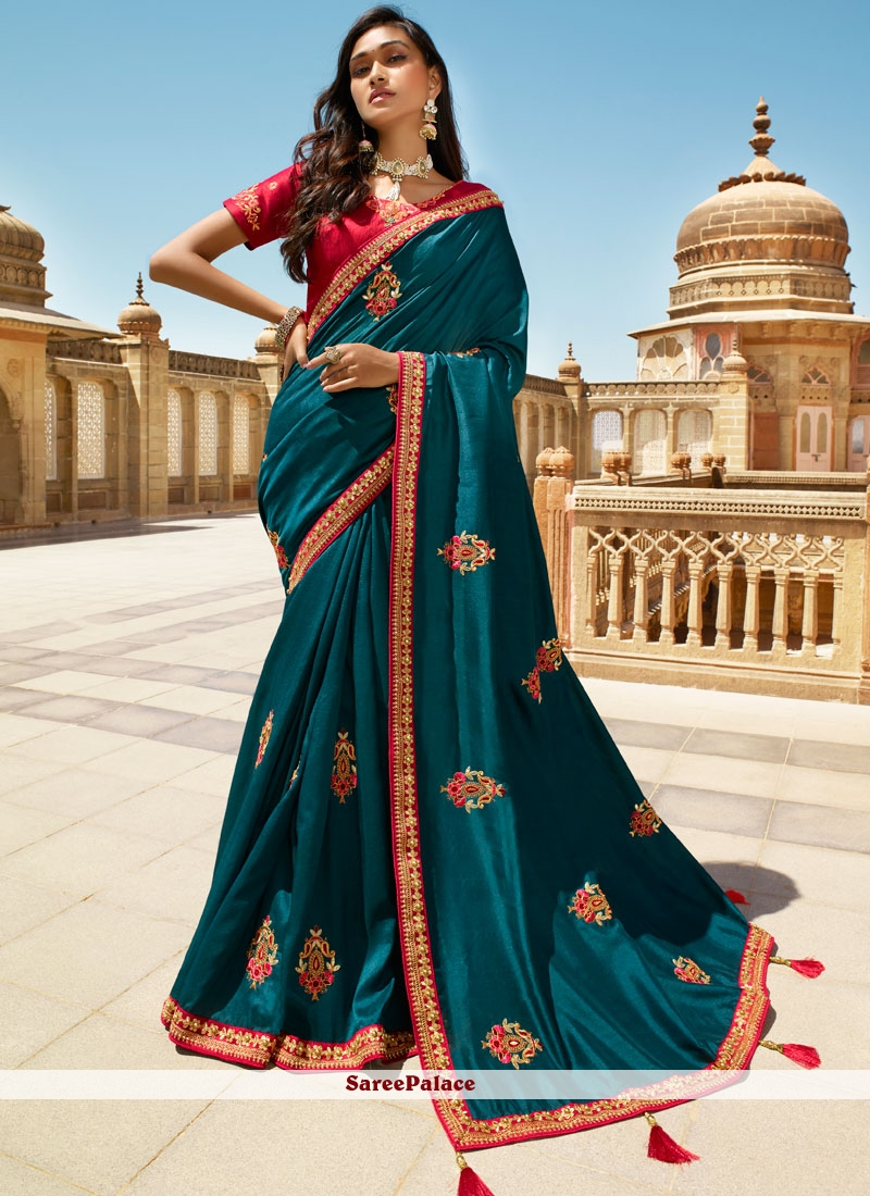 Navy Blue Wedding Trendy Saree