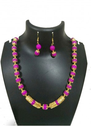 Necklace Set Moti in Gold and Rani