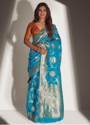 Neha Khan Organza Ceremonial Designer Traditional Saree