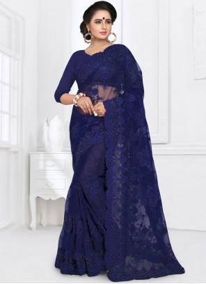 Net Blue Saree
