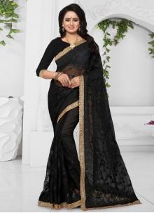Black Net Classic Designer Saree