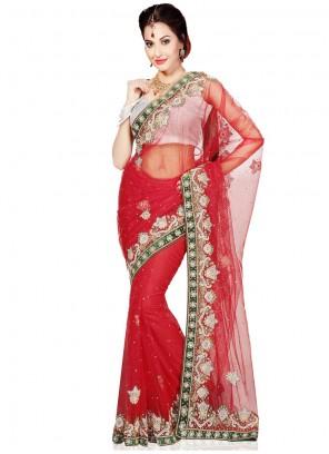 Net Cutdana Work Trendy Saree