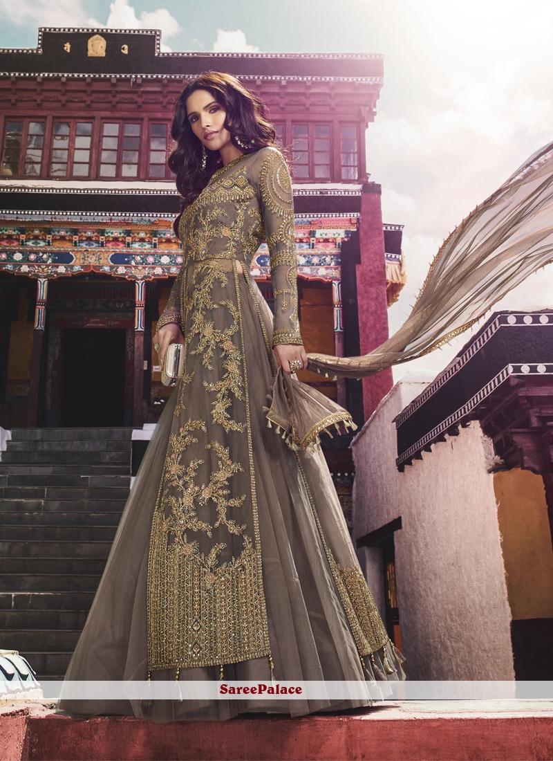 Net Designer Salwar Kameez in Lavender