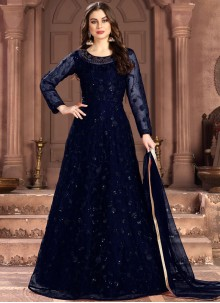 Net Embroidered Anarkali Salwar Suit