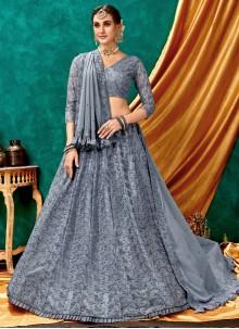Net Embroidered Designer Lehenga Choli