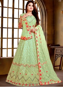 Net Embroidered Salwar Suit