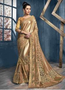 Net Gold Classic Saree
