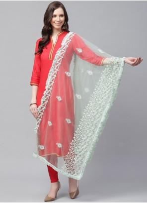 Net Green Designer Dupatta