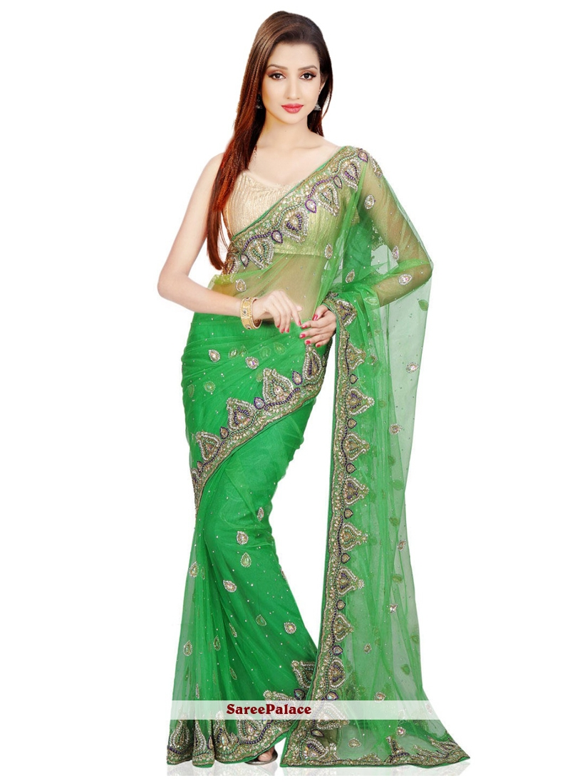 Net Green Traditional Designer Saree