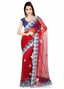 Net Handwork Work Classic Saree