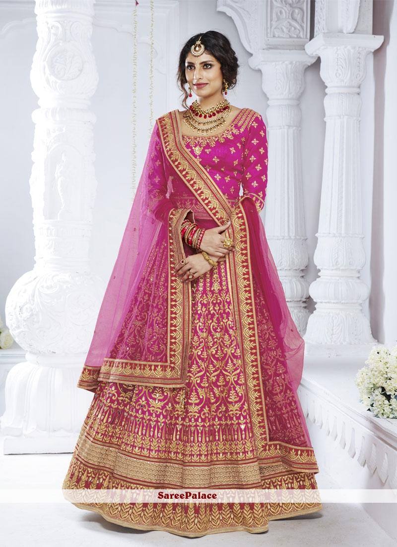 2b332599be Buy Net Magenta Stone Designer Lehenga Choli Online