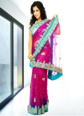 Net Mehndi Classic Designer Saree