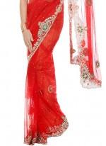 Net Moti Work Classic Designer Saree
