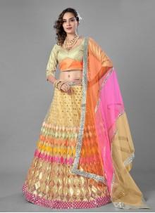 Net Multi Colour Lehenga Choli