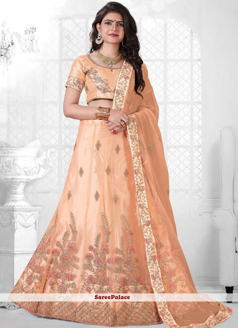 e3792891d3 Buy Net Peach Trendy Lehenga Choli Online