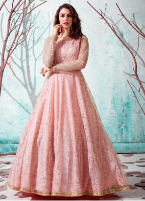 Net Pink Designer Gown