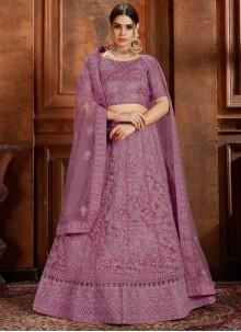 Net Purple Designer Lehenga Choli