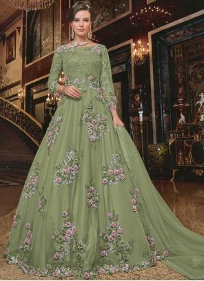 Net Reception Anarkali Salwar Suit