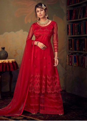 Net Red Palazzo Suit