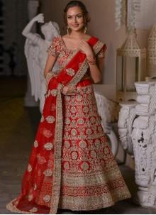 Net Red Resham Designer Lehenga Choli