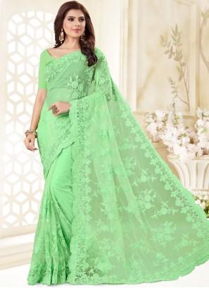 Net Resham Designer Traditional Saree