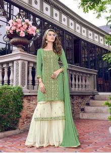 Net Resham Green Salwar Suit