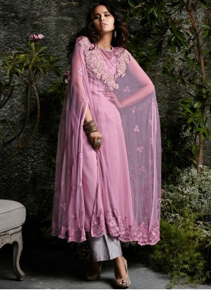 Net Resham Work Designer Suit