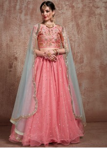 Net Rose Pink Trendy Lehenga Choli