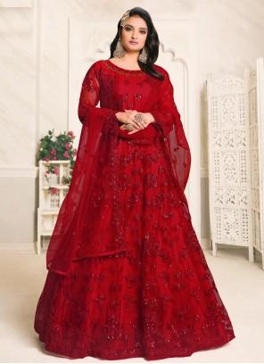 Net Sangeet Designer Floor Length Suit