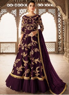 Net Stone Work Anarkali Salwar Suit