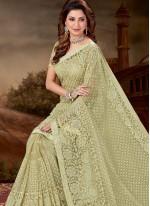 Net Trendy Saree in Green