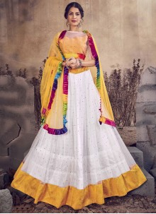 White Net Wedding Designer Lehenga Choli