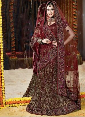 Net Wedding Lehenga Choli