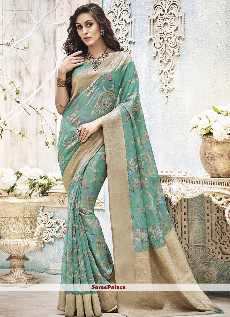 Nice Art Silk Print Work Printed Saree
