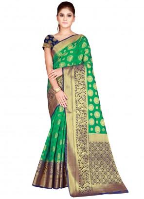 Nylon Green Bollywood Saree