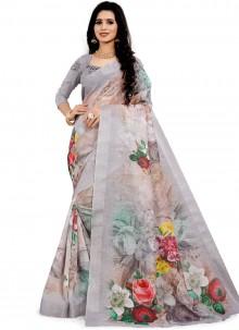 Off White Classic Designer Saree
