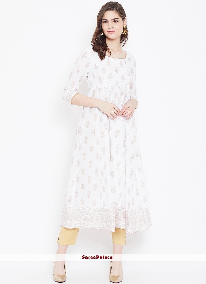 Off White Color Designer Kurti