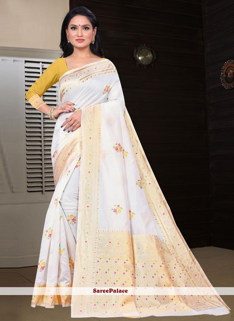 Off White Fancy Classic Designer Saree